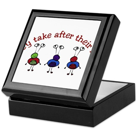 They take after their Dad Keepsake Box