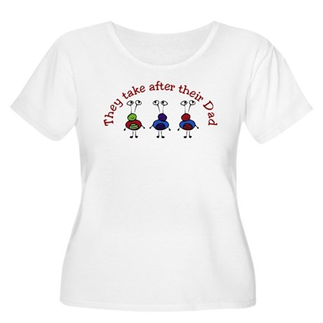 They take after their Dad Women's Plus Size Scoop
