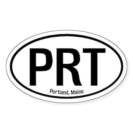 Portland, Maine Oval Sticker