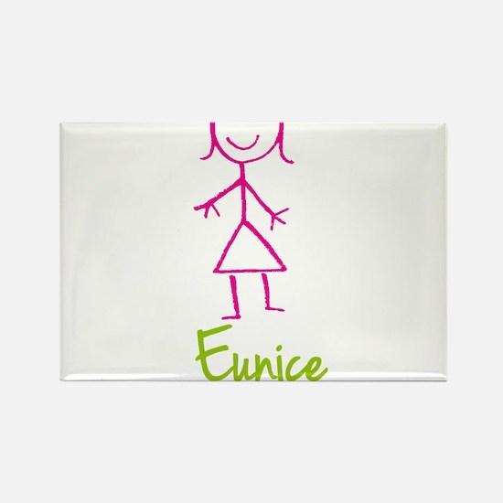 Eunice-cute-stick-girl.png Rectangle Magnet