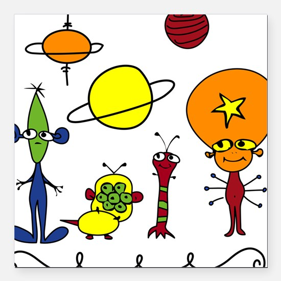"""Out of This World Square Car Magnet 3"""" x 3"""""""