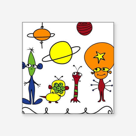 "Out of This World Square Sticker 3"" x 3"""