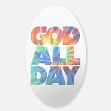 GOD ALL DAY Tie Dye Decal