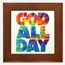 GOD ALL DAY Tie Dye Framed Tile