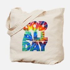 GOD ALL DAY Tie Dye Tote Bag
