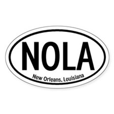 NOLA New Orleans, Louisiana Oval Decal