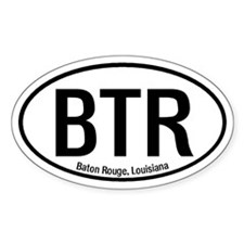 Baton Rouge, Louisiana Oval Decal