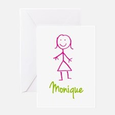 Monique-cute-stick-girl.png Greeting Card