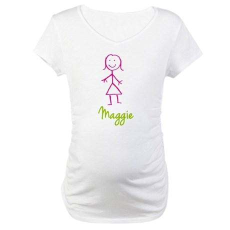 Maggie-cute-stick-girl.png Maternity T-Shirt