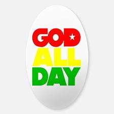 GOD ALL DAY Rasta Decal