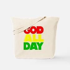 GOD ALL DAY Rasta Tote Bag