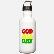 GOD ALL DAY Rasta Water Bottle