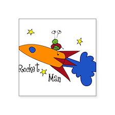 "Rocket Man Square Sticker 3"" x 3"""