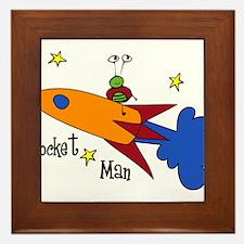 Rocket Man Framed Tile