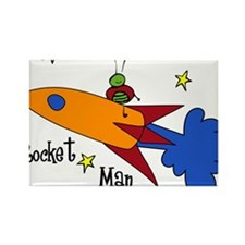 Rocket Man Rectangle Magnet