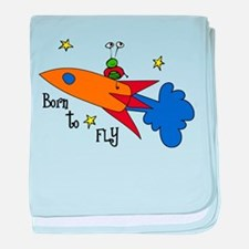 Born to Fly baby blanket