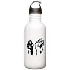 Animal and Human liberation. Sports Water Bottle