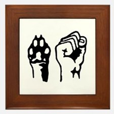 Animal and Human liberation. Framed Tile