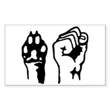 Animal and Human liberation. Decal