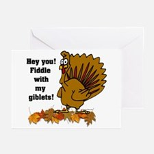 Fiddle with my giblets Greeting Cards (Package of