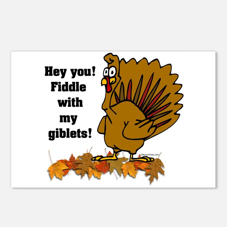 Fiddle with my giblets Postcards (Package of 8)