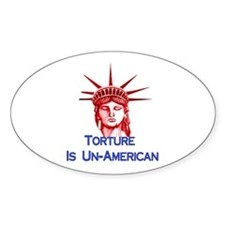 Torture Is Un-American Decal