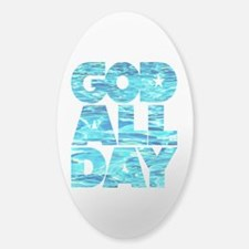GOD ALL DAY Water Sticker (Oval)