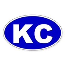 Kansas City, Kansas Oval Decal