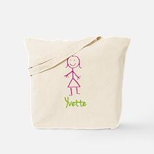Yvette-cute-stick-girl.png Tote Bag