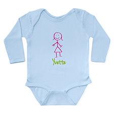 Yvette-cute-stick-girl.png Long Sleeve Infant Body