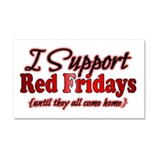 I support Red Fridays Car Magnet 20 x 12
