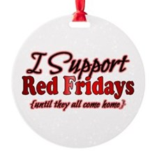 I support Red Fridays Ornament