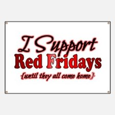 I support Red Fridays Banner