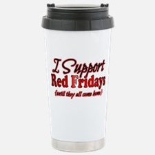 I support Red Fridays Stainless Steel Travel Mug