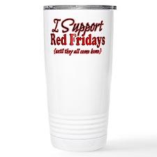 I support Red Fridays Travel Mug