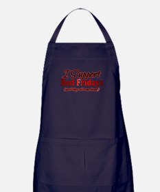 I support Red Fridays Apron (dark)