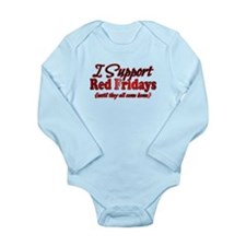 I support Red Fridays Long Sleeve Infant Bodysuit