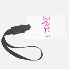 Luz-cute-stick-girl.png Luggage Tag