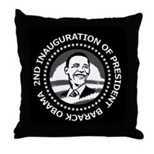 2nd Inauguration Throw Pillow
