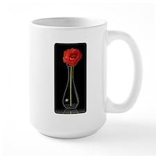 Single Long Stemmed Orange Flower in Vase Mug