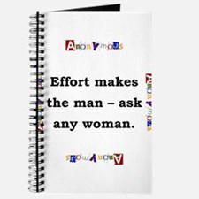 Effort Makes The Man - Anonymous Journal