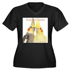 Cockatiel 2 Steve Duncan Women's Plus Size V-Neck