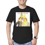 Cockatiel 2 Steve Duncan Men's Fitted T-Shirt (dar