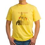 Cockatiel 2 Steve Duncan Yellow T-Shirt
