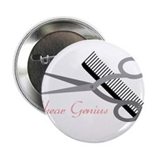 "Shear Genius 2.25"" Button"