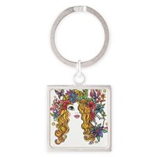 Pretty Face 1 Square Keychain