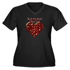 Break My Heart Dare Valentine Women's Plus Size V-