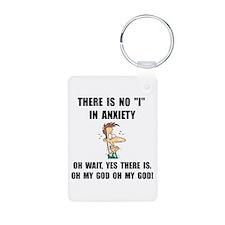Anxiety Aluminum Photo Keychain