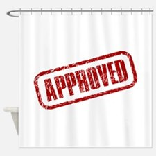 Approve Stamp Shower Curtain
