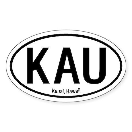 Kauai, Hawaii Oval Sticker